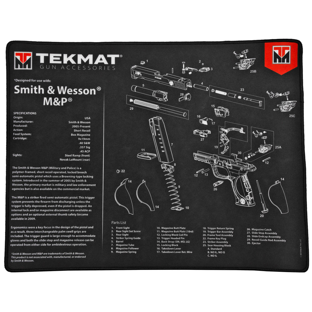 Tekmat Tek-R20-Sw-Mp Ultra 20 Smith And Wesson Mp Gun Cleaning Mat