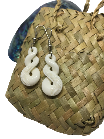 Bone Infinity Earrings