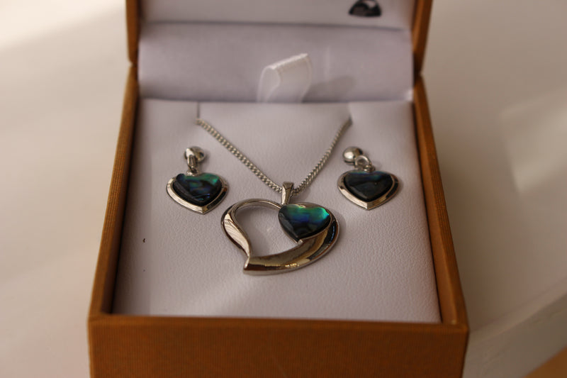 Silver plated Paua Set