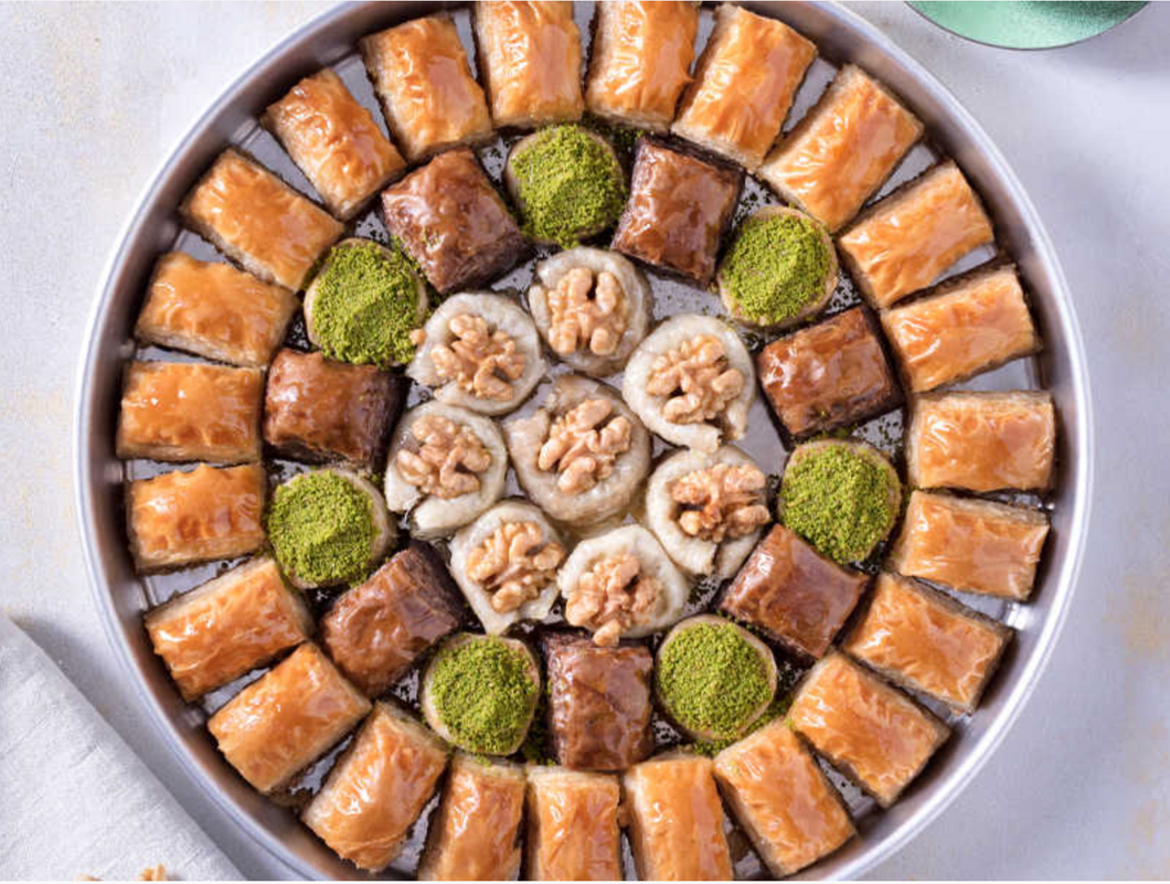 Special Baklava With Walnut In The Tray