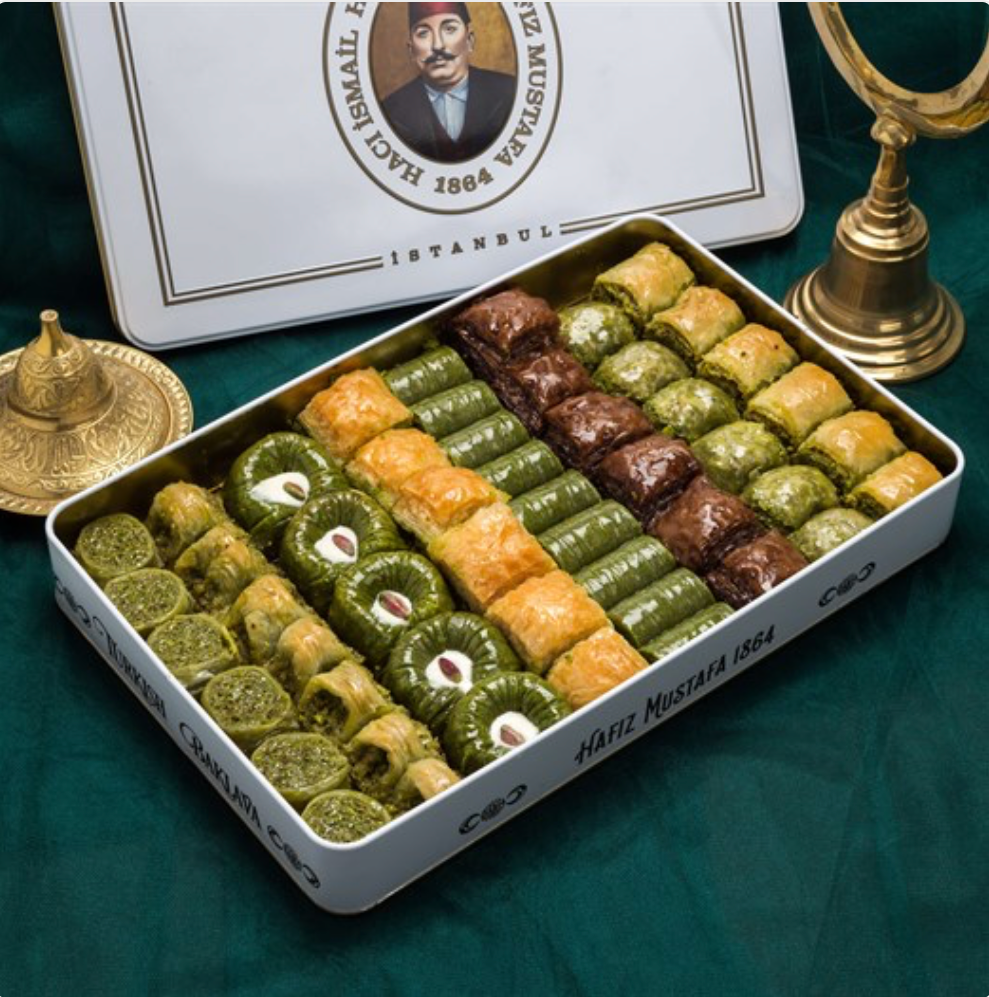 Pistachio Baklava Assortment | XL Metal Box