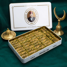 Load image into Gallery viewer, Pistachio Twister Baklava | XL Metal Box
