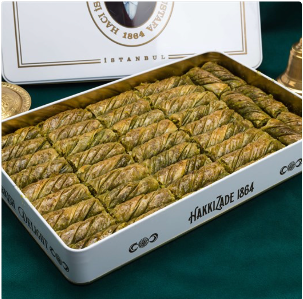 Pistachio Twister Baklava | XL Metal Box