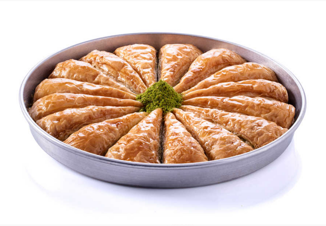 Palace Baklava with Pistachio in Tray
