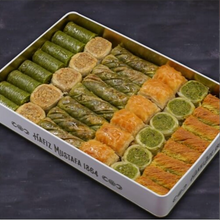 Load image into Gallery viewer, Pistachio-Walnut Baklava Assortment | L Metal Box