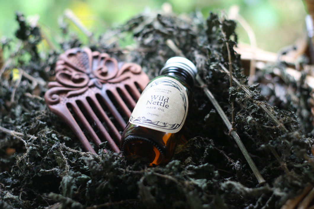 Wild Nettle Hair Oil, Hair Conditioner / styler, To moisturise dry hair, Organic Oils & Botanicals