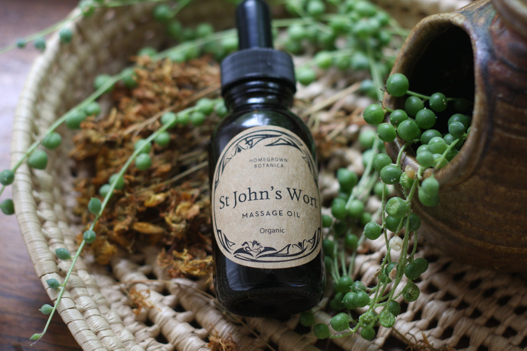 St John's Wort Oil, Muscle Rub / Massage Oil