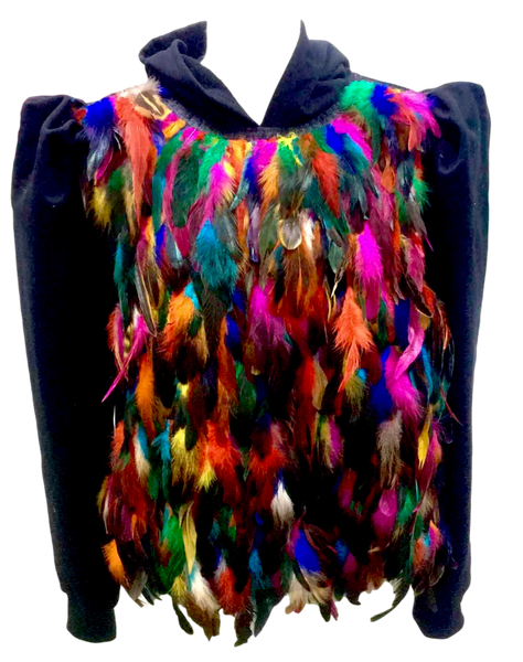 Rainbow Feather Hoodie