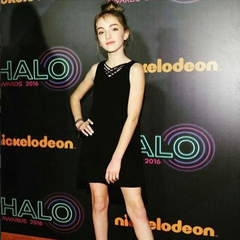 f88914f37bdbc Youtube Star Lauren Orlando in Sally Miller Couture at the Halo Awards  November 2016