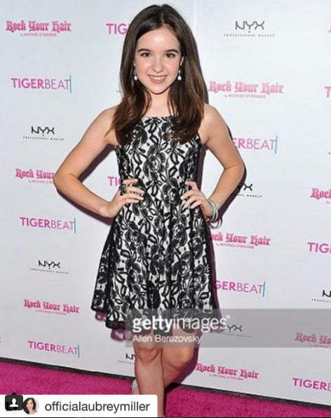 6b4dee6c6960f Aubrey Miller Star of Amazon's 'Just Add Magic' wearing Sally Miller  Couture at the Tiger Beat Now Party July 2016