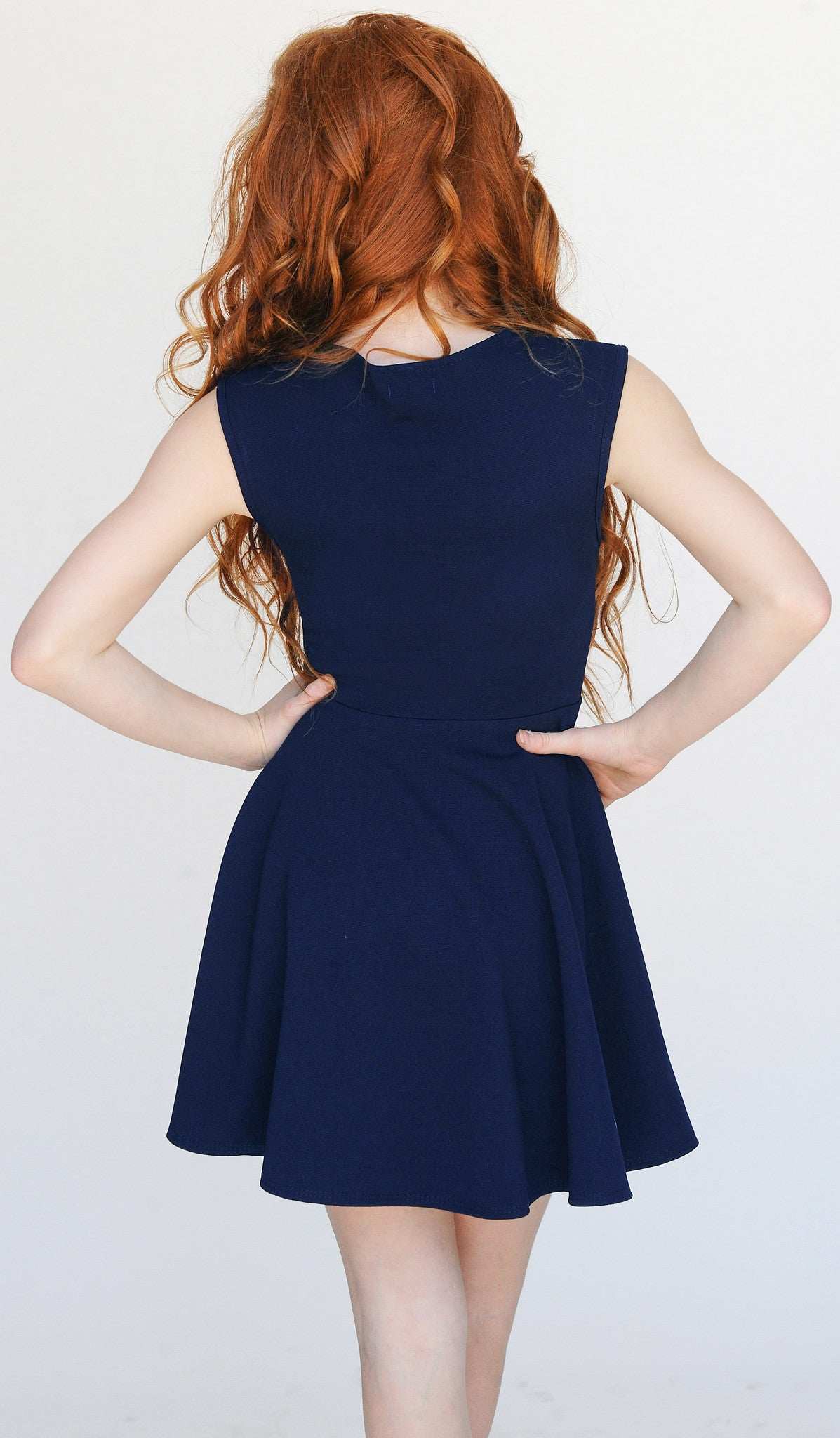 THE BRIE DRESS -2677 NAVY