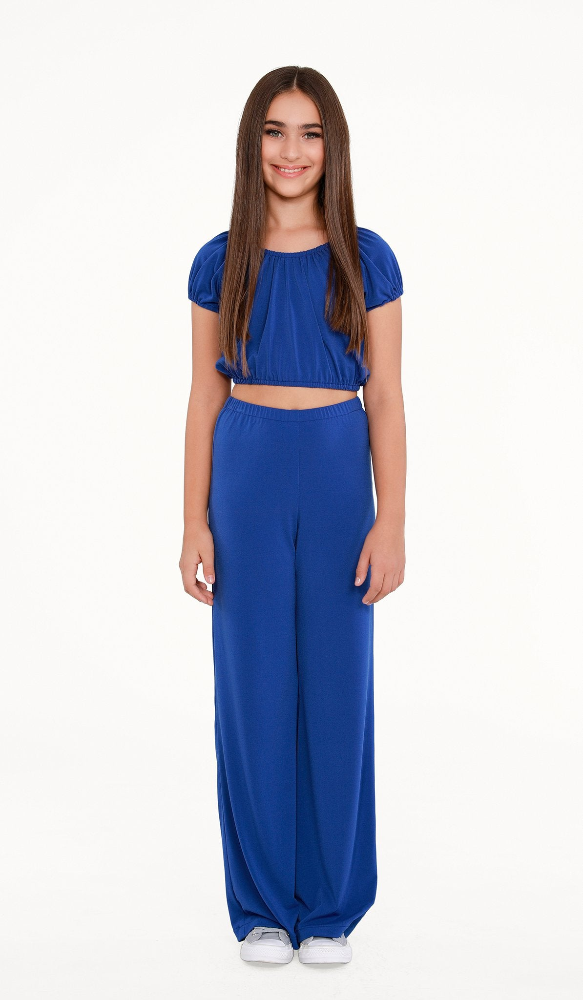 The Sally Miller Carrie Pant Set | Azure stretch knit peasant top and wide leg cropped pant set | | Event & Party Dresses for Tween Girls & Juniors | Weddings Dresses, Bat Mitzvah Dresses, Sweet Sixteen Dresses, Graduation Dresses, Birthday Party Dresses, Bar Mitzvah Dresses, Cotillion Dresses