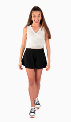 The Sally Miller Riley Short - Black stretch knit short with elastic waist band