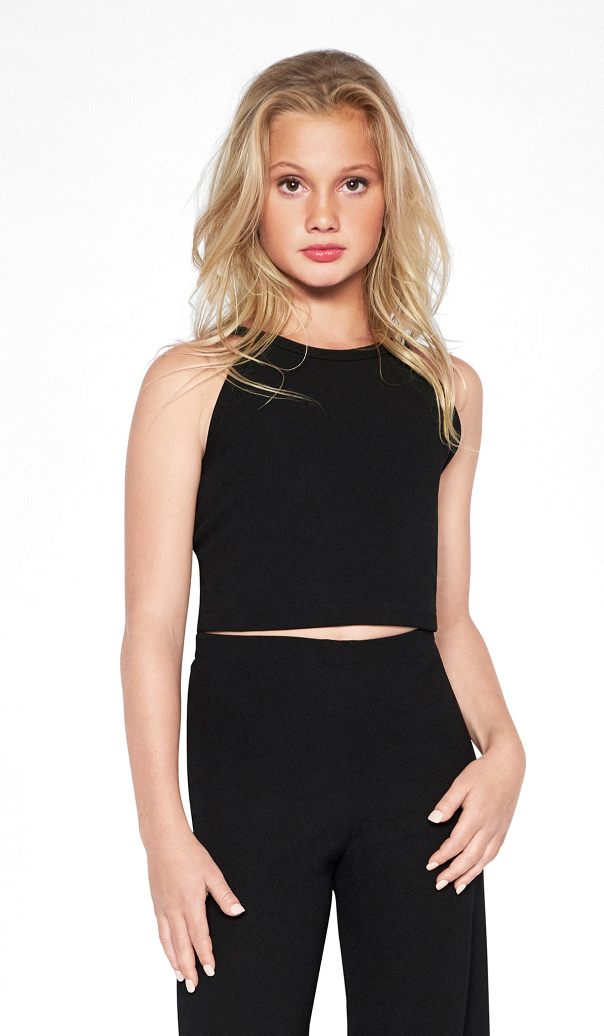 Sally Miller black top and pants set