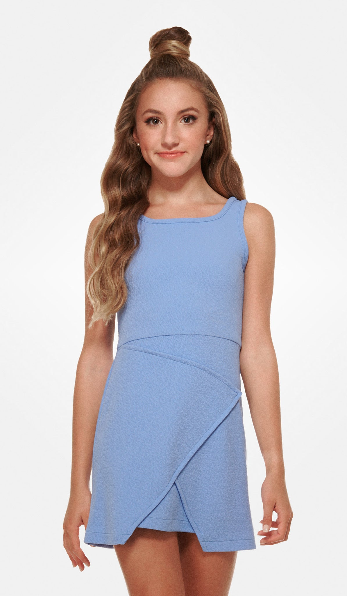 The Sally Miller Nicole Dress: Peri textured stretch knit envelope A-line dress
