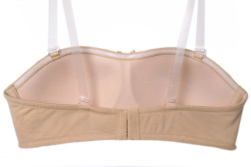 STRAPLESS CONVERTIBLE BRA - LATTE