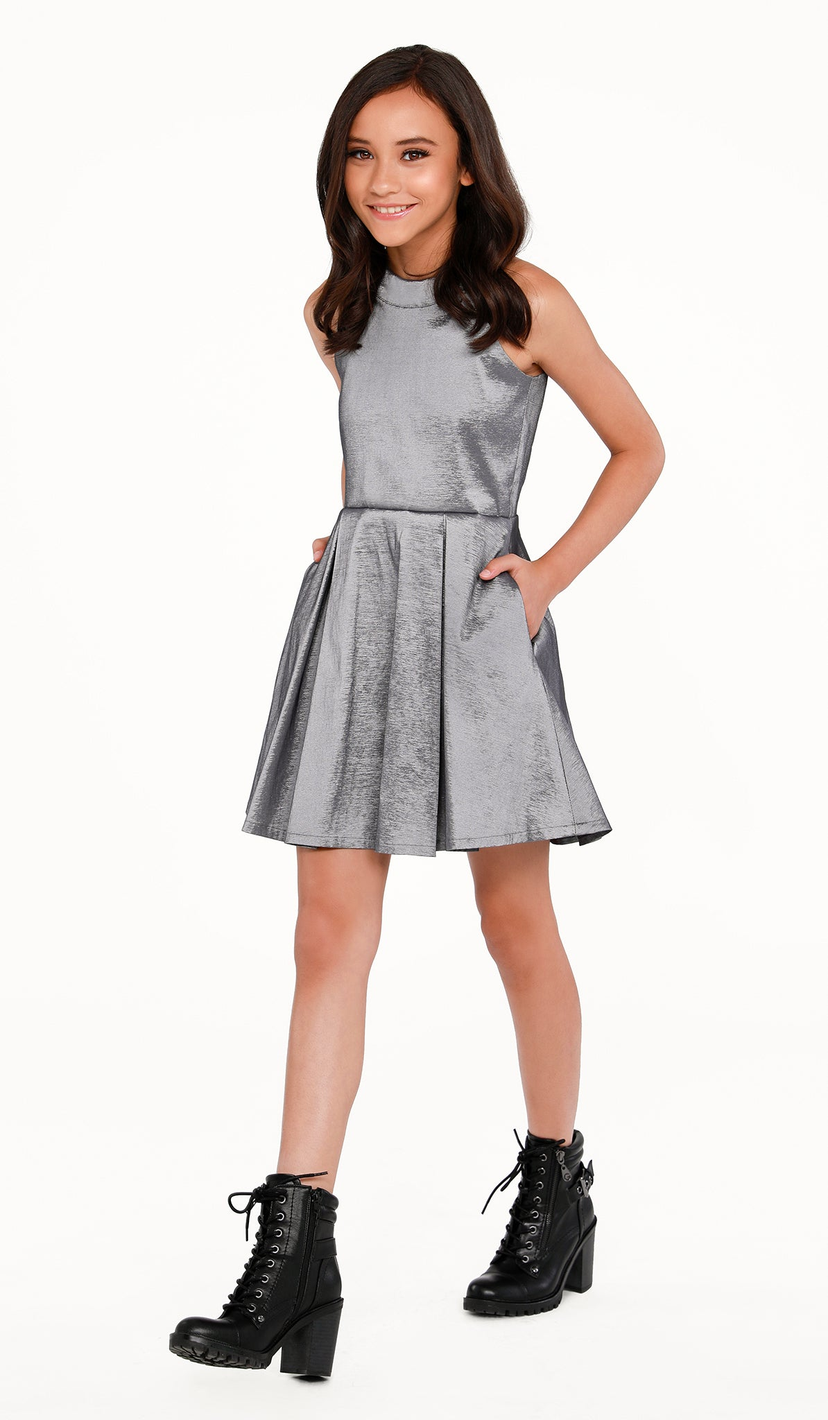 THE PLATINUM POCKET DRESS - Sallymiller.com - [variant title] - | Event & Party Dresses for Tween Girls & Juniors | Weddings Dresses, Bat Mitzvah Dresses, Sweet Sixteen Dresses, Graduation Dresses, Birthday Party Dresses, Bar Mitzvah Dresses, Cotillion Dresses