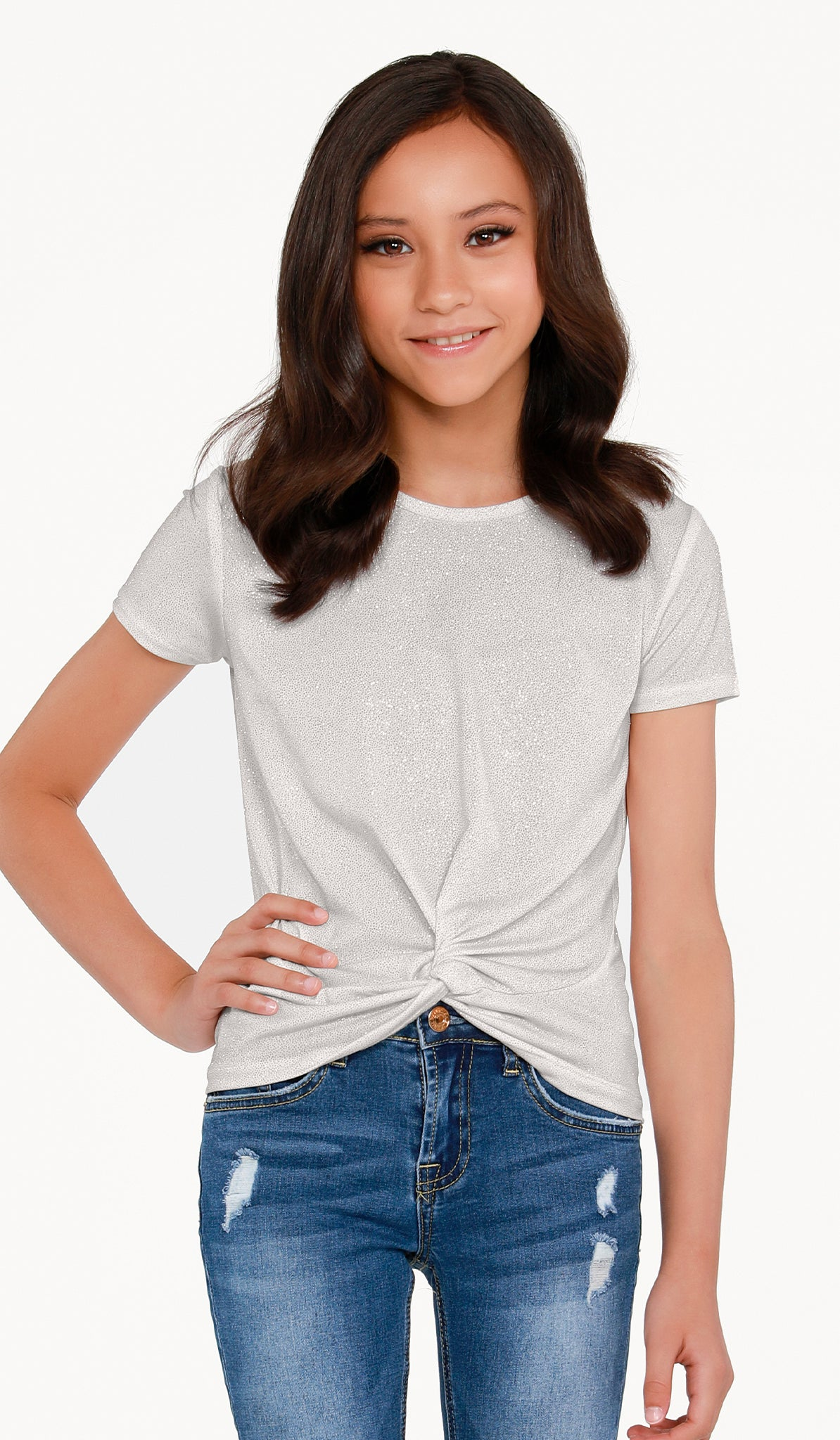THE SPARKLE KNOT TOP - Sallymiller.com - [variant title] - | Event & Party Dresses for Tween Girls & Juniors | Weddings Dresses, Bat Mitzvah Dresses, Sweet Sixteen Dresses, Graduation Dresses, Birthday Party Dresses, Bar Mitzvah Dresses, Cotillion Dresses