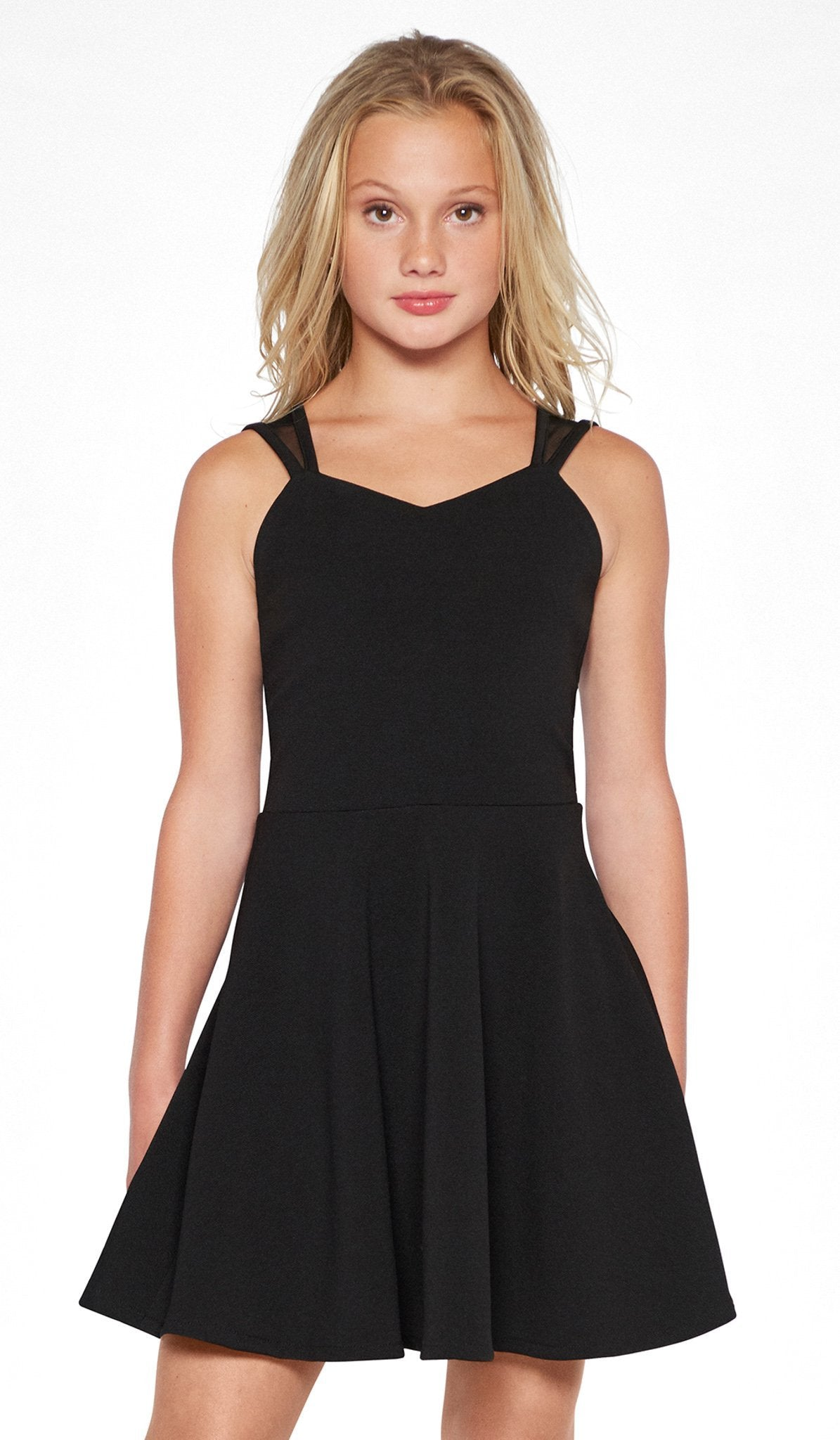 Sally Miller black stretch skater dress