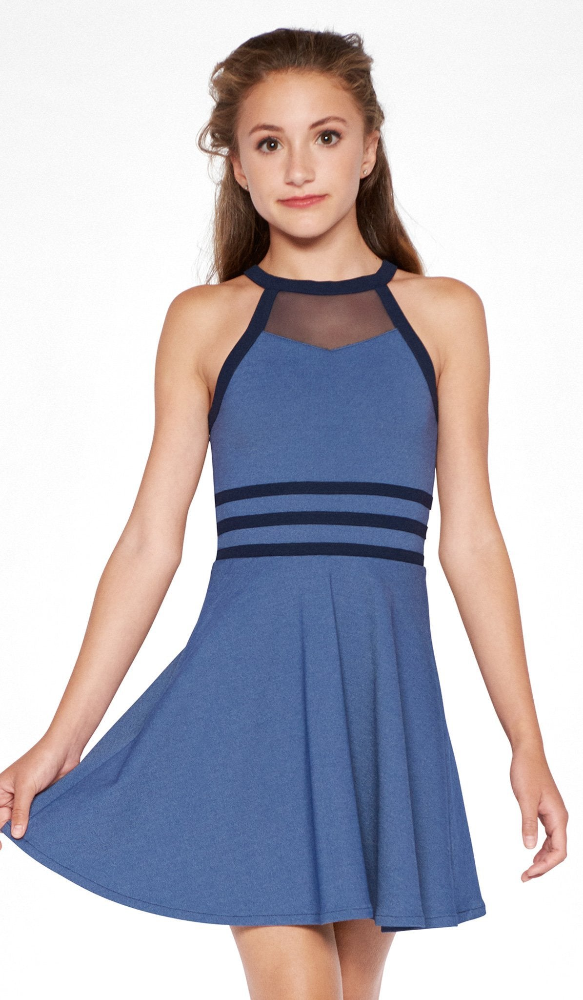 Sally Miller denim combo skater dress
