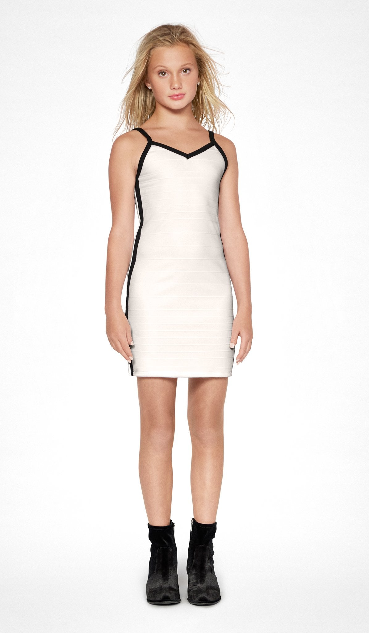 Sally Miller ivory textured bodycon bandage dress