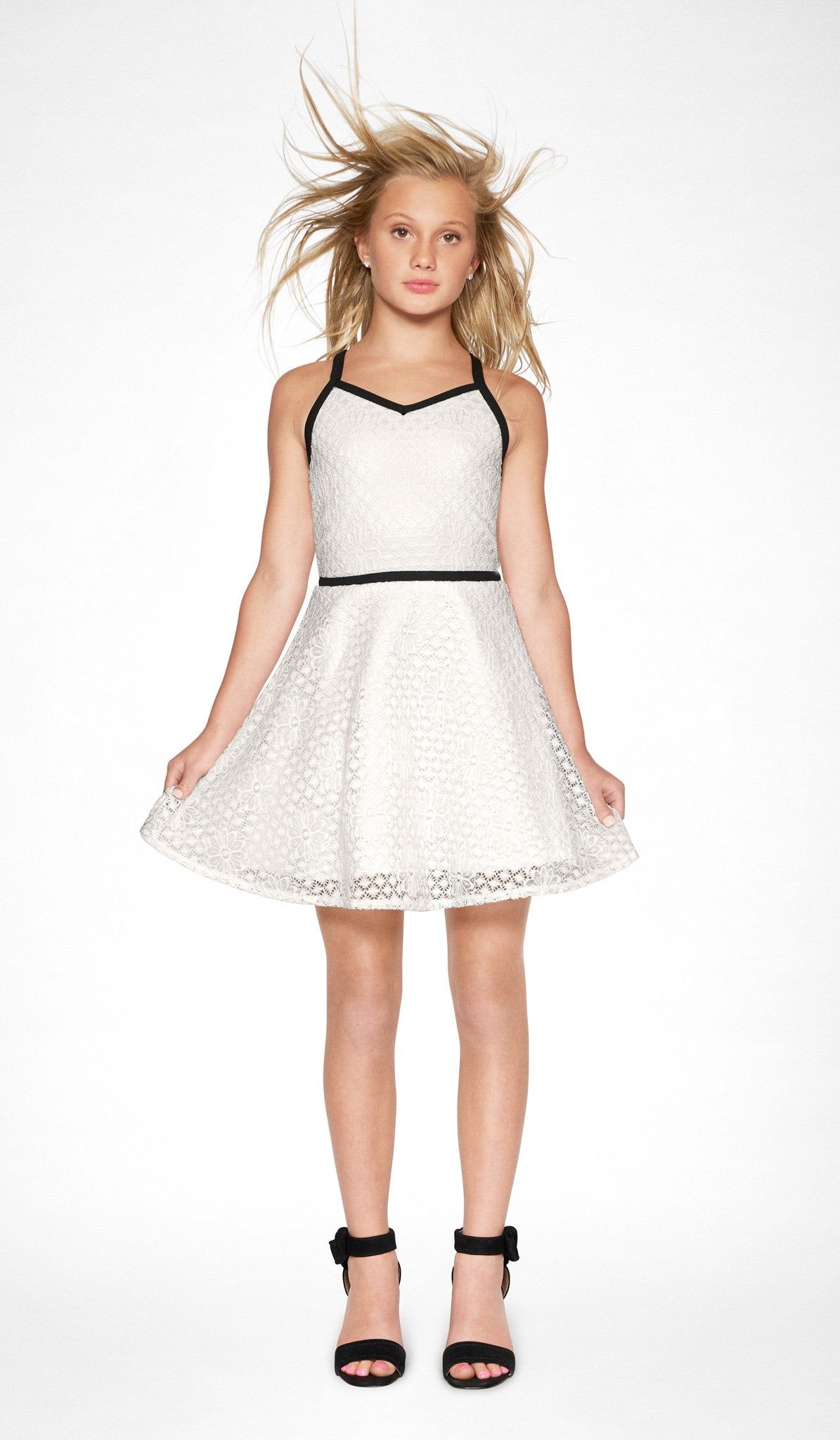 Sally Miller ivory lace skater dress