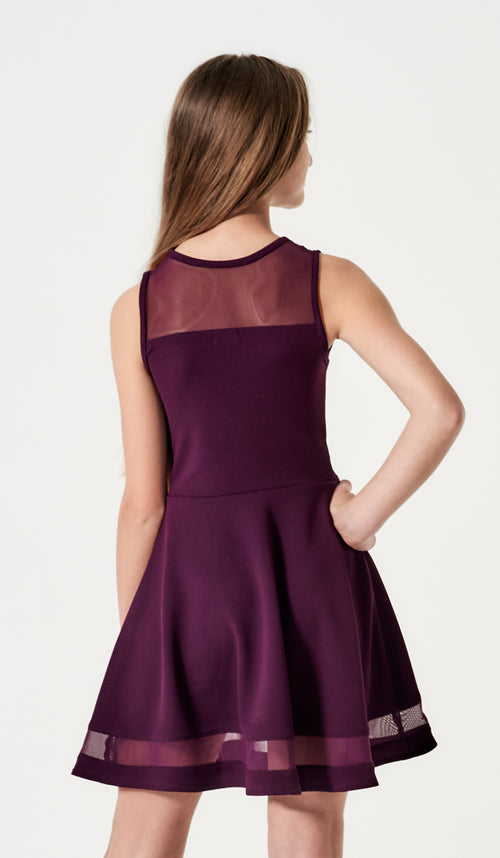THE SERENA DRESS - 2596 PLUM