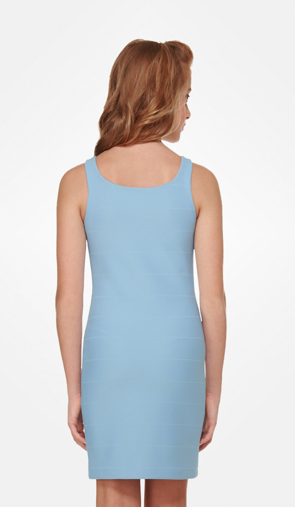 The Sally Miller Stacey Dress - Sky textured knit bodycon bandage dress