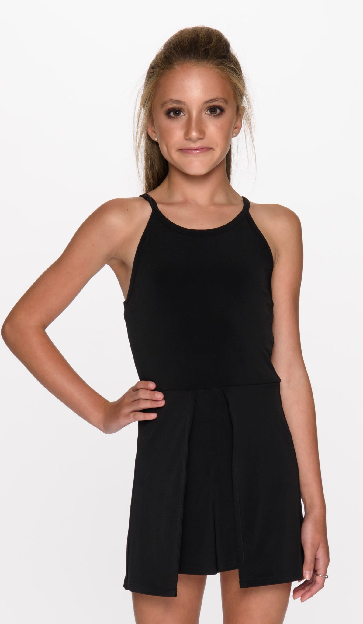 THE TYRA ROMPER - 3033 BLACK - Sallymiller.com - [variant title] - | Event & Party Dresses for Tween Girls & Juniors | Weddings Dresses, Bat Mitzvah Dresses, Sweet Sixteen Dresses, Graduation Dresses, Birthday Party Dresses, Bar Mitzvah Dresses, Cotillion Dresses