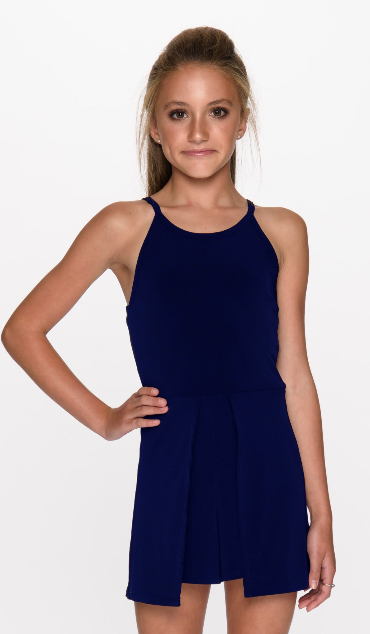 THE TYRA ROMPER - 3033 NAVY - Sallymiller.com - [variant title] - | Event & Party Dresses for Tween Girls & Juniors | Weddings Dresses, Bat Mitzvah Dresses, Sweet Sixteen Dresses, Graduation Dresses, Birthday Party Dresses, Bar Mitzvah Dresses, Cotillion Dresses