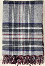 Load image into Gallery viewer, Grey Tartan with Ruby Windowpane