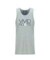 Men's Vivid Roots Tank Top - Heather Grey/Earth Tone Blue