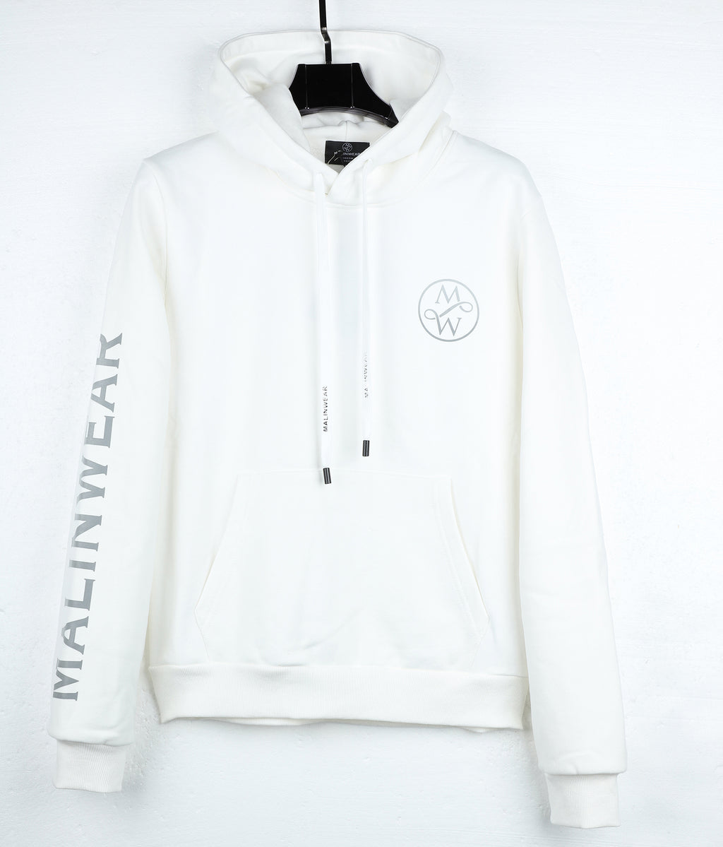 MALINWEAR Exclusive White Winter 500 GSM Hoodie-Malinwear