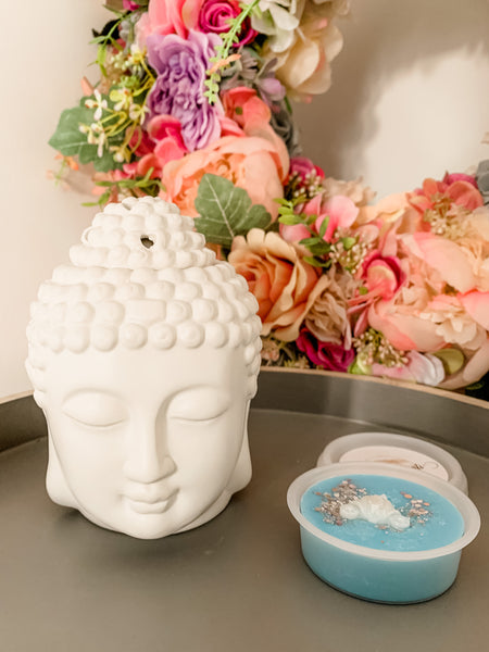 White Budda Head Wax Melt Burner