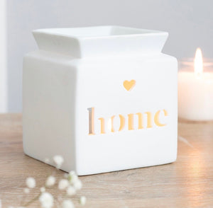 White Home Contemporary Wax Melt Burner