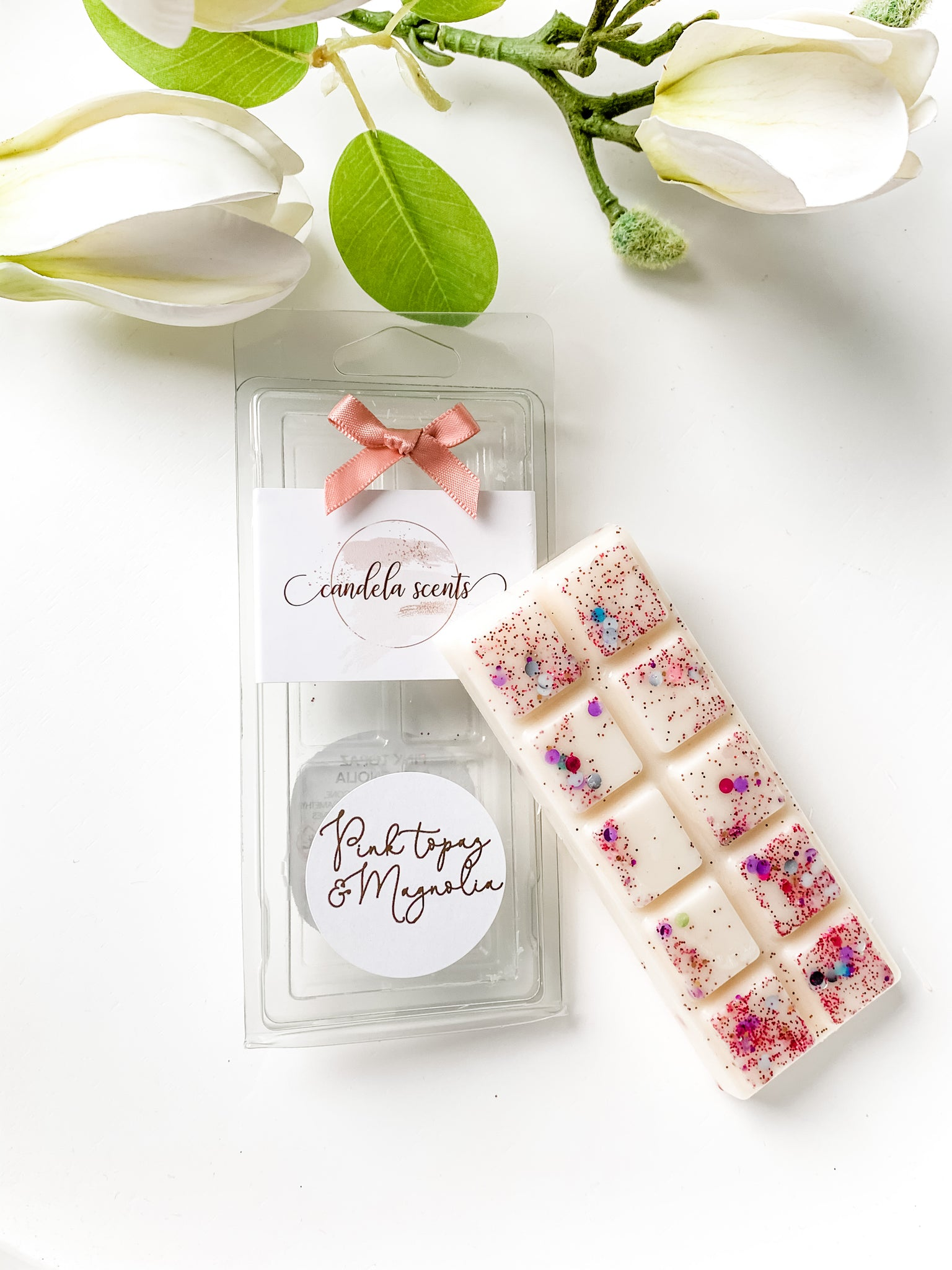 Pink Topaz & Magnolia Scented Wax Snap Bar