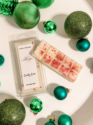 Candy Cane Scented Wax Snap Bar