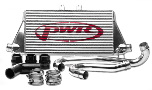 Holden Colorado (2012-2013) 2.8L Diesel 55mm Intercooler & Pipe Kit, billet ribbed outlets, includes silicone hose (SKU: PWI66175K) - Canyon Off-Road