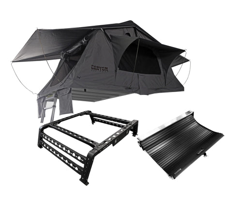 Roof Top Tent Camping Package - 2 Person Soft Shell Tent - Canyon Off-Road