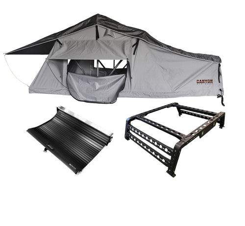 Roof Top Tent Camping Package - 2 Person LONG STYLE Soft Shell Tent - Canyon Off-Road