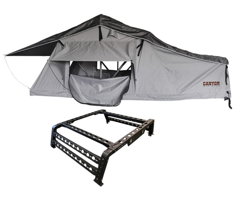 Roof Top Tent Package - 2 Person LONG STYLE Soft Shell Tent - Canyon Off-Road