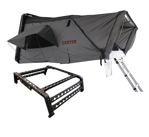 Roof Top Tent Package - 4 Person Hard Shell Tent - Canyon Off-Road