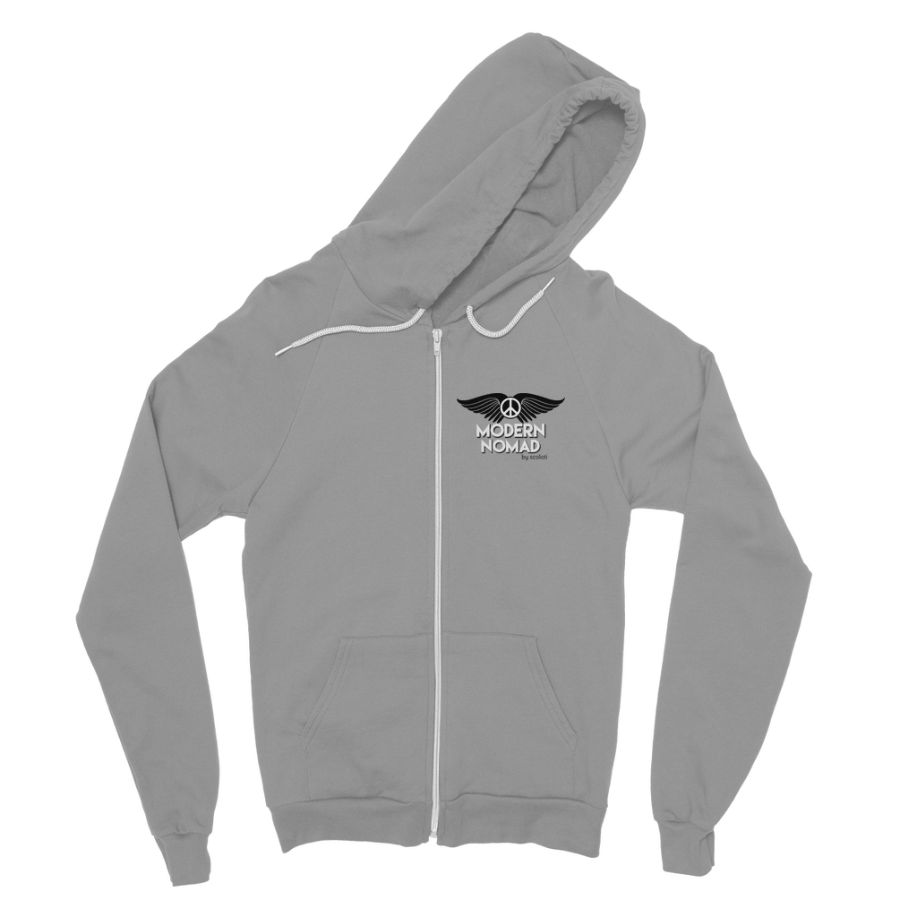 Modern Nomad Peace Classic Adult Zip Hoodie