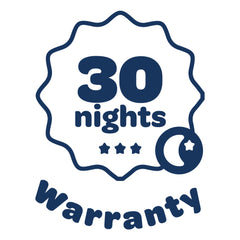 Warranty badge - If you don't feel neck pain relief with zleep cervical pillow in 30 nights, you can return the item