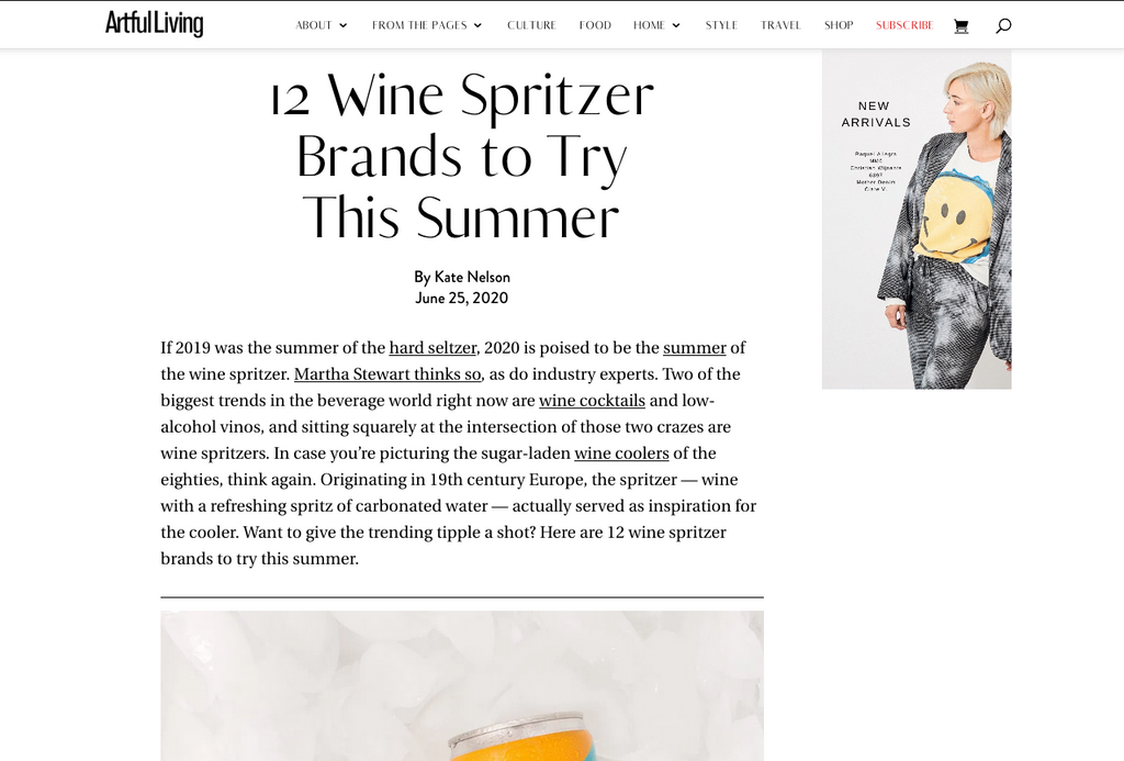 Artful Living 12 Wine Spritzers to Try This Summer