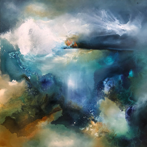 Above and Below (storm on the reef) by Joanne Duffy