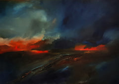 The Drive Home (scrub fire near Eneabba) by Joanne Duffy