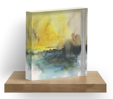 Acrylic Block - Yellow Sky