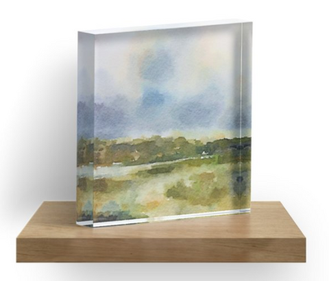 Acrylic Block - Lake Design by bluRaven