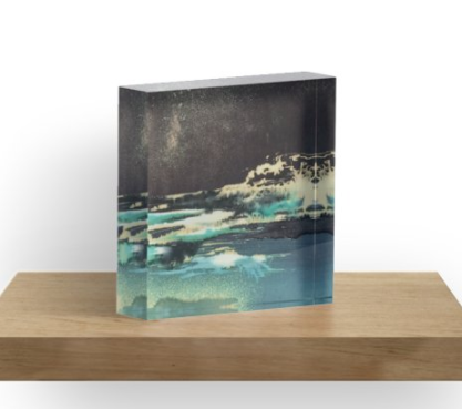 Acrylic Block - Lake Night